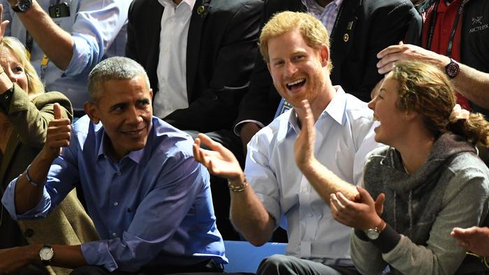 Barack Obama con el príncipe Harry