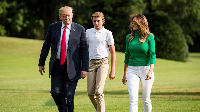 Barron Trump agosto 2018