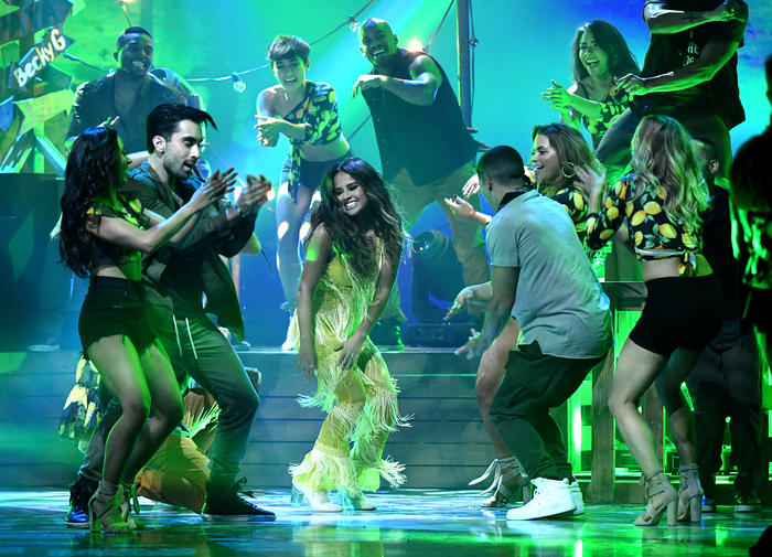 Becky G on stage at the Latin American Music Awards 2016