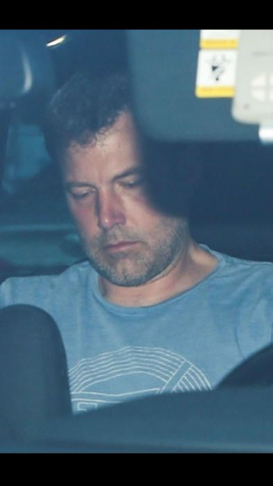 Ben Affleck en el carro llorando