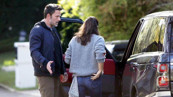 Ben Affleck y Jennifer Garner discutiendo