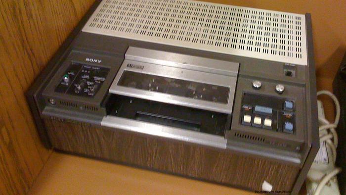 Imagen de un betamax, el reproductor de vídeo que lanzó Sony en 1975
