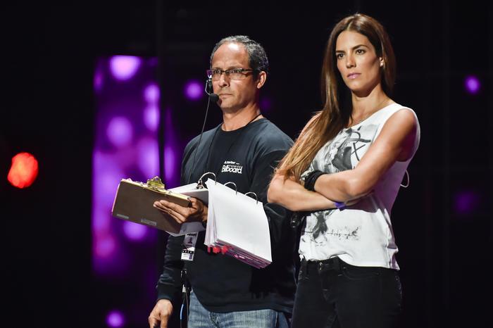 Gaby Espino en los ensayos de premios billboard 2015