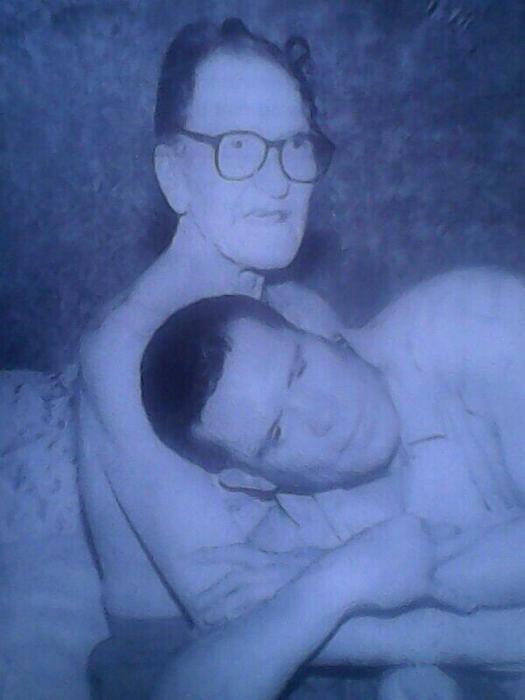Julio César Chávez junto a su padre.