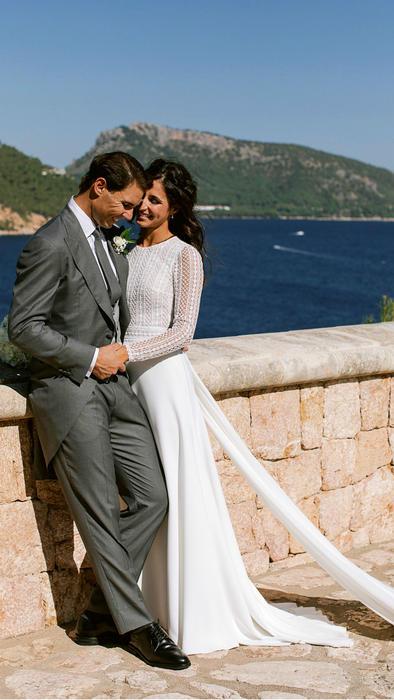 Rafael Nadal y Mery Perelló en su boda