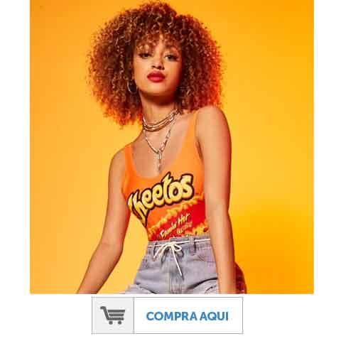 Body suit con diseño de Cheetos de Forever 21