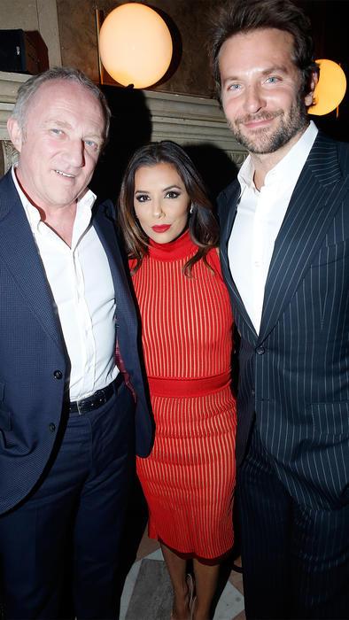 Francois Henri Pinault, Eva Longoria y Bradley Cooper