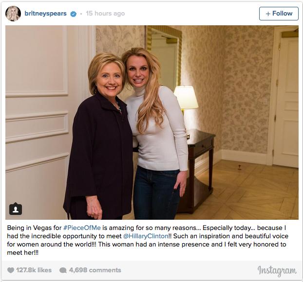 Hillary Clinton y Britney Spears