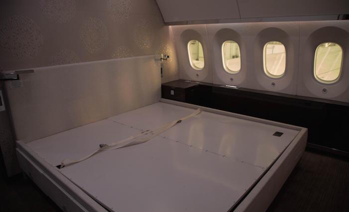 El avión presidencial cuenta con un dormitorio