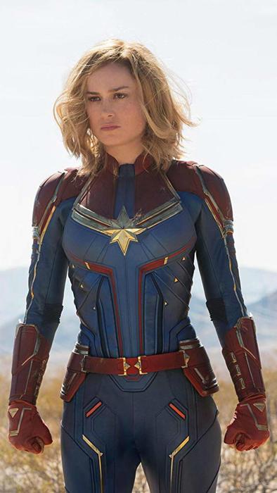 "Brie Larson en ""Captain Marvel"""
