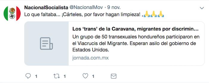 Captura de pantalla de un tuit
