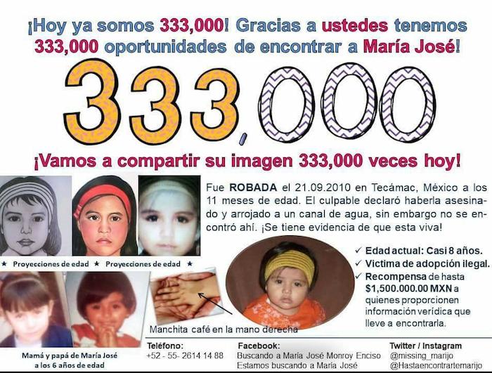 La bebé María José ha sido uno de los casos que más ha indignado a los usuarios de Facebook.