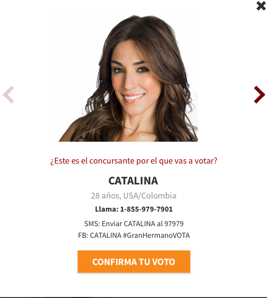 Catalina es nominada en la tercera semana de Gran Hermano