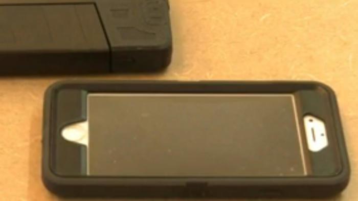 Pistola parece un teléfono celular