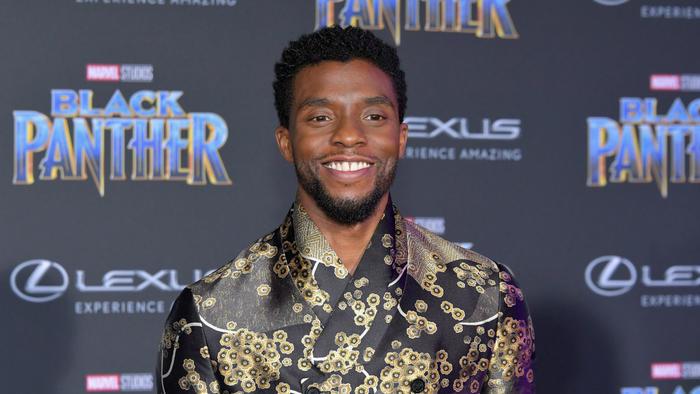 """Chadwick Boseman en premiere de """"Black Panther"""""""