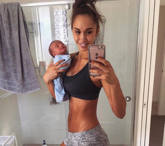 Chontel Duncan con su bebé