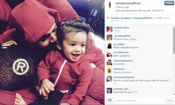 chris brown con su hija royalty en instagram