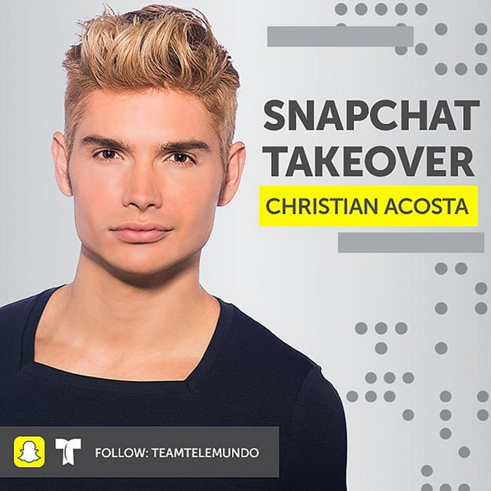 Christian Acosta Snap Chat Live Premios Billboard 2016