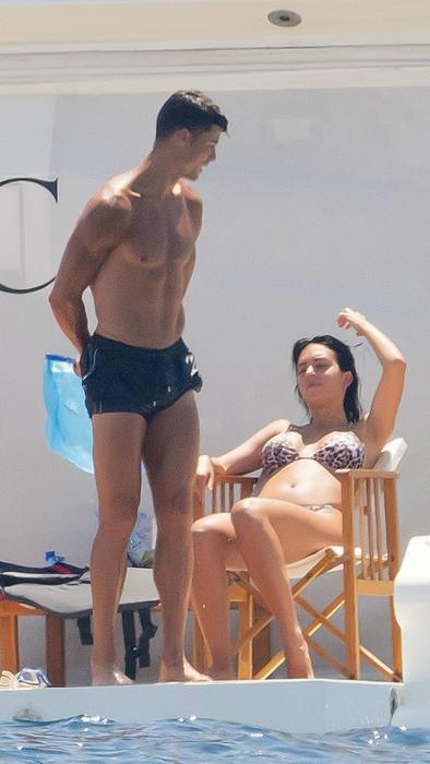 Cristiano Ronaldo y Georgina Rodríguez de vacaciones