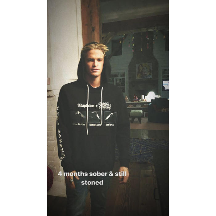 Cody Simpson Revelas He's '4 Months Sober' but He's Still on a Natural High