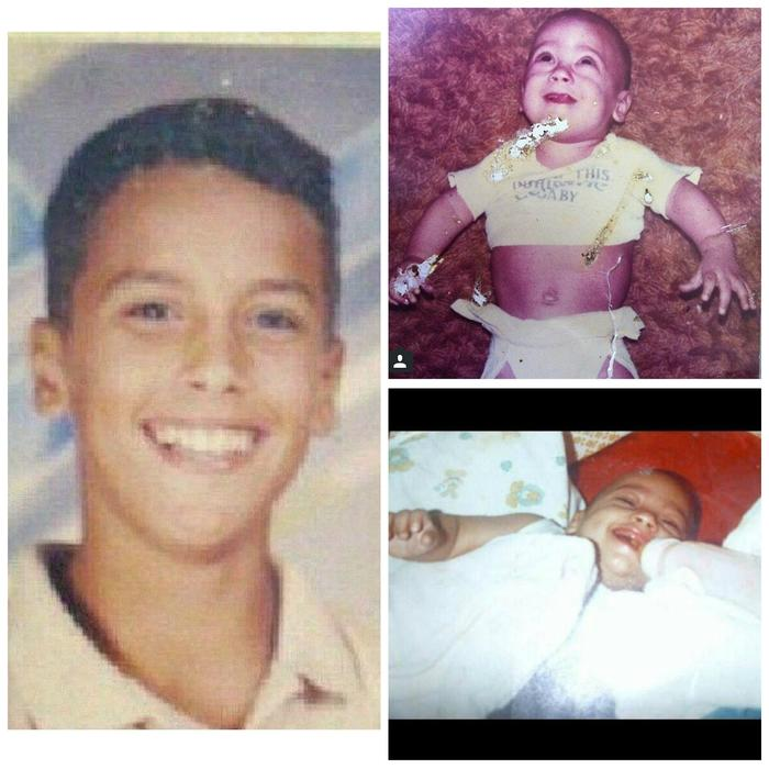 Collage Nicky Jam niño