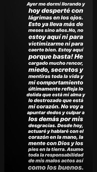 Comentario de Frida Sofía en su Instagram de mayo de 2019