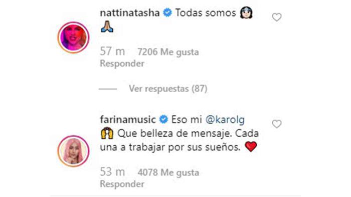 Comentario Instagram Karol G