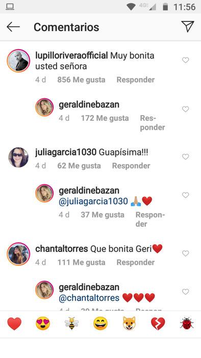 Comentario de Lupillo Rivera a Geraldine Bazán