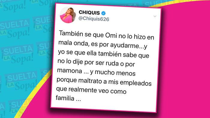 Chiquis Rivera comentarios Twitter