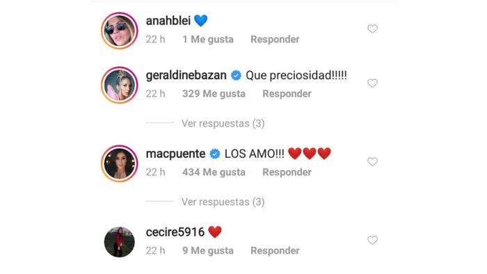 comentario de Geraldine Bazán a Anahí