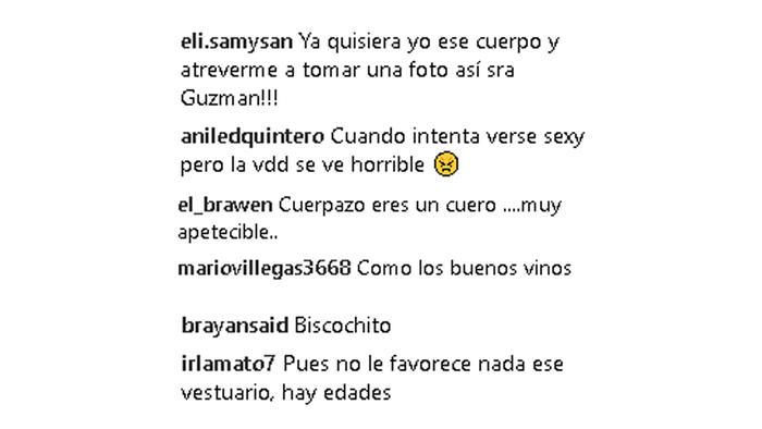 Comentarios Instagram de Alejandra Guzmán