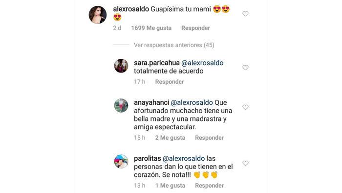 Comentario de Alessandra Rosaldo a Victoria Ruffo en Instagram