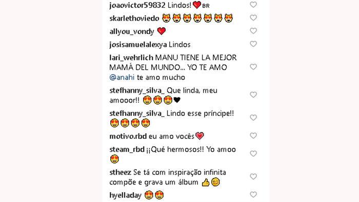 Comentarios Instagram de Anahí