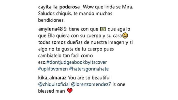 Comentarios Instagram Chiquis Rivera