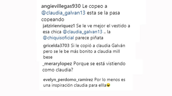 Comentarios Instagram de Chiquis Rivera