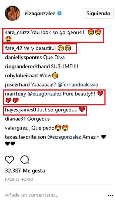 Comentarios Eiza González