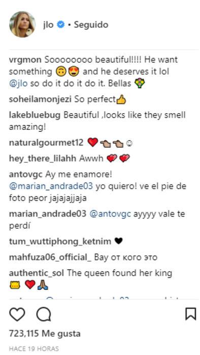 Comentarios en las flores que recibió Jennifer Lopez