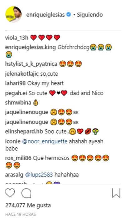 Comentarios al video de Enrique Iglesias con su bebé