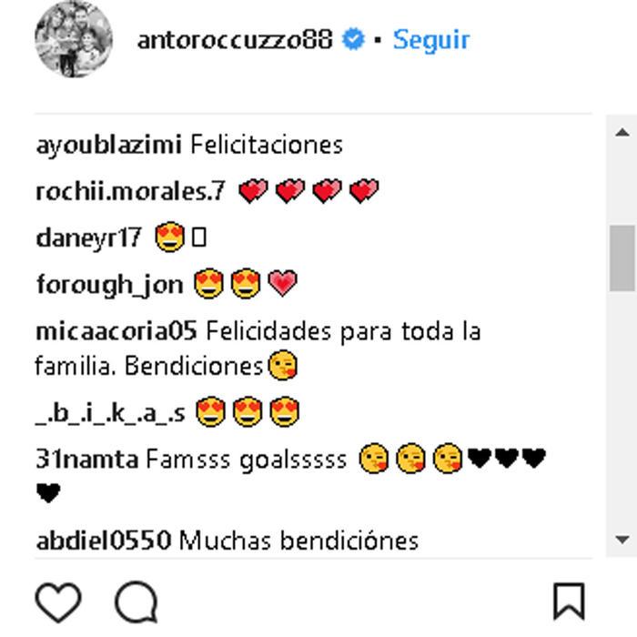 Comentarios foto familiar Ciro Messi