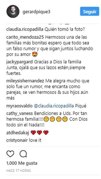 Comentarios en la foto de Piqué