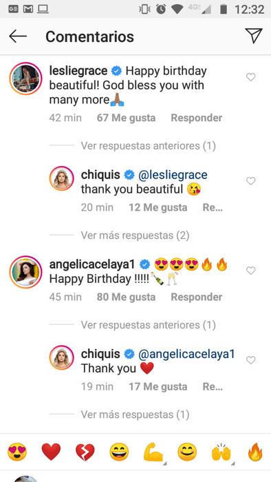 Comentarios en la foto de cumpleaños de Chiquis Rivera