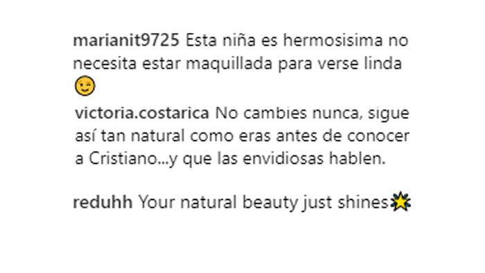 Comentario Georgina Rodríguez
