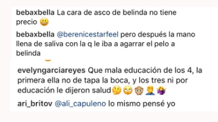 Comentarios Instagram de Belinda