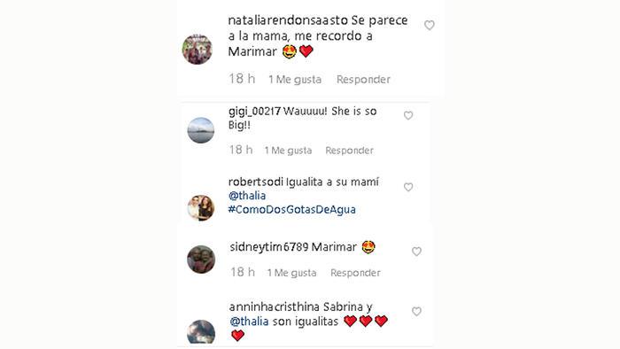 Comentarios para la hija de Thalía
