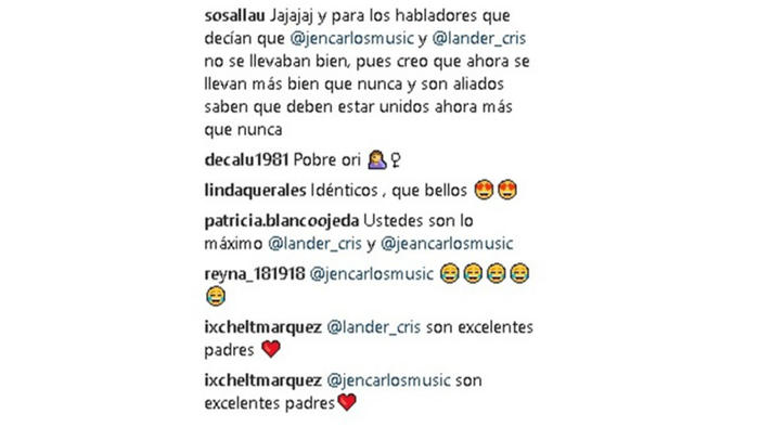 Comentarios Instagram Cristóbal Lander