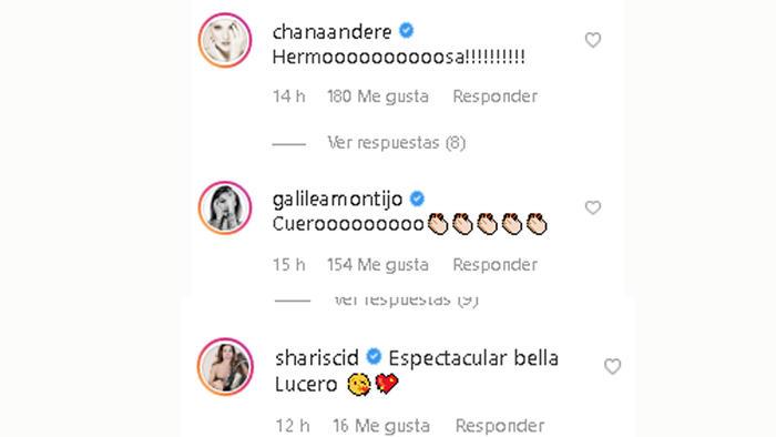 Comentarios en el instagram de Lucero