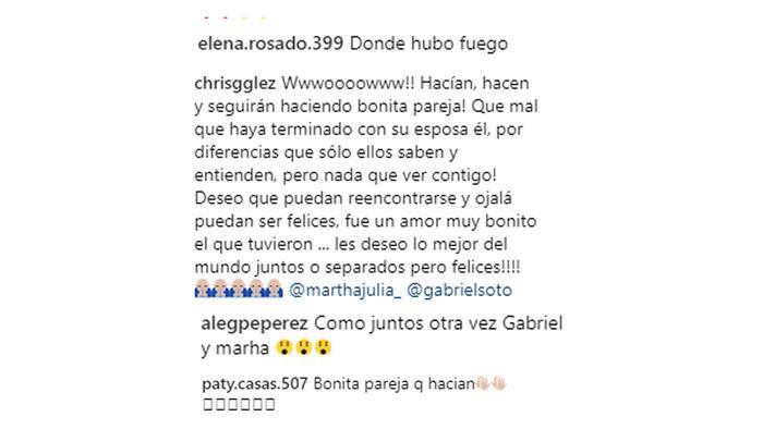 Comentarios Instagram de Martha Julia