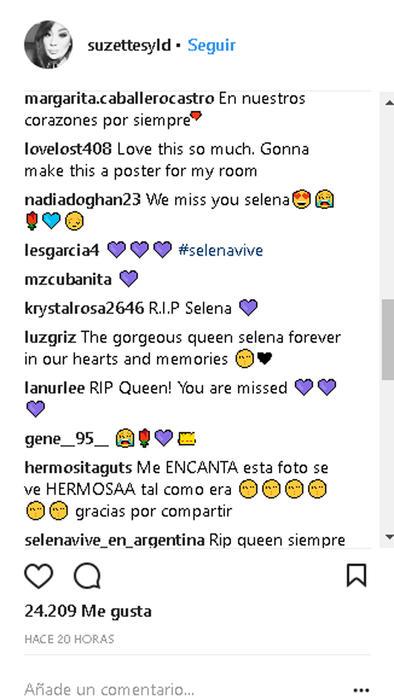 Comentarios Selena Quintanilla