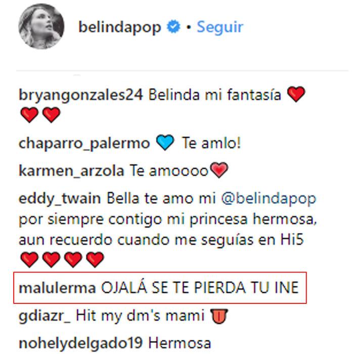 Comentario sobre el INE de Belinda