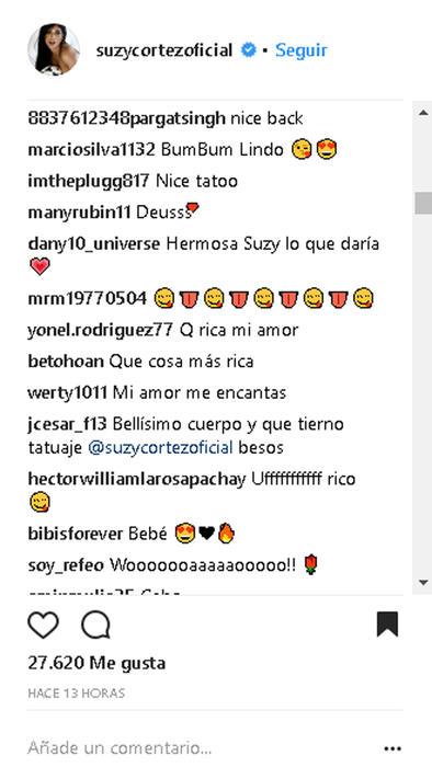 Comentarios Suzy Cortez 1